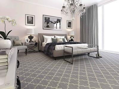 модный ковёр с геометрическим принтом