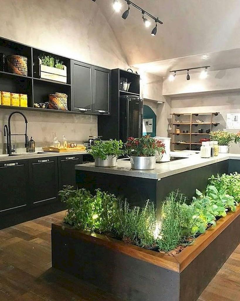огород на кухне, зеленый остров